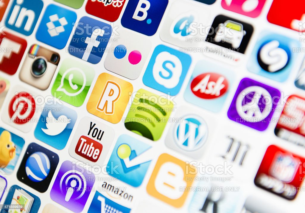 The most famous app on Itunes webstore stock photo