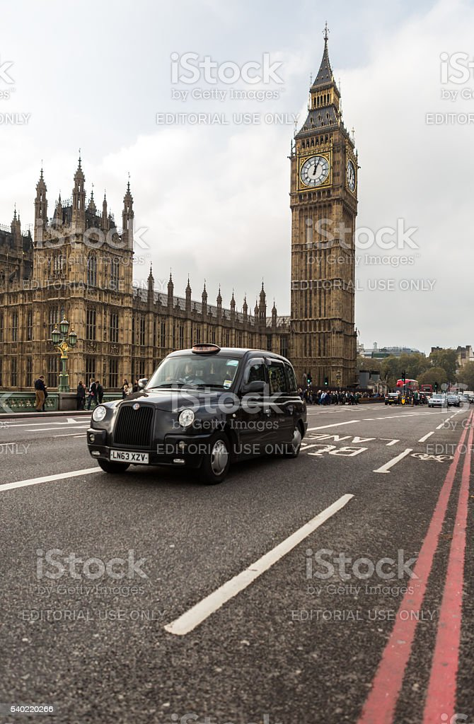 The most famous London landmark Big Ben from Westminster bridge stock photo