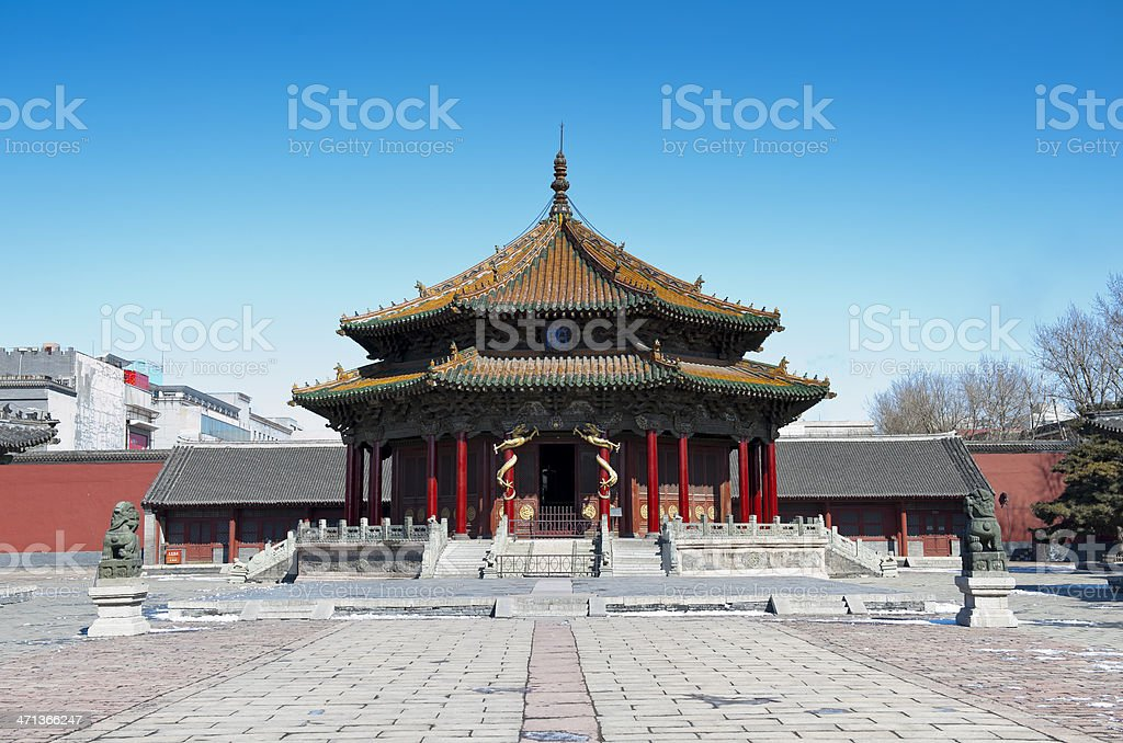 The most important building in Imperial Palace Museum stock photo