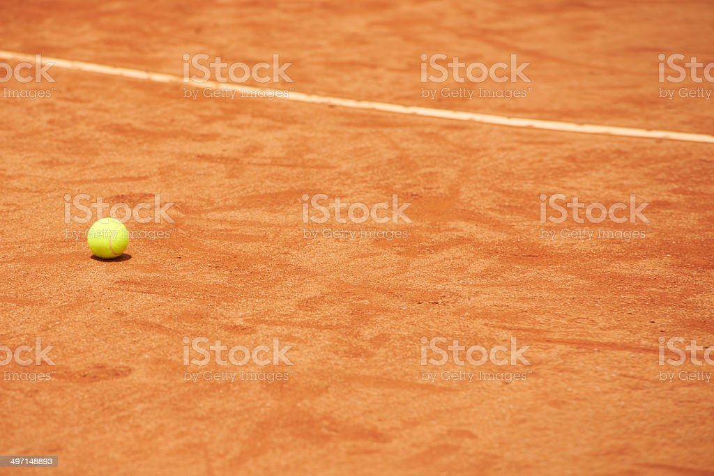 The most important piece of a tennis match royalty-free stock photo
