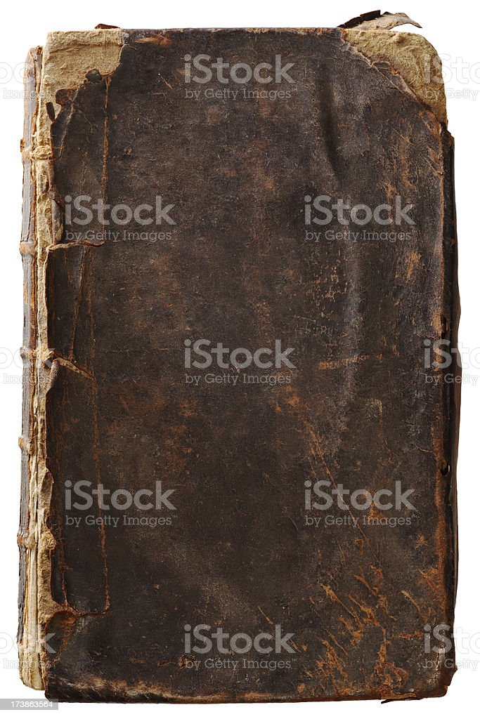 The Most Knackered Old Book Cover stock photo
