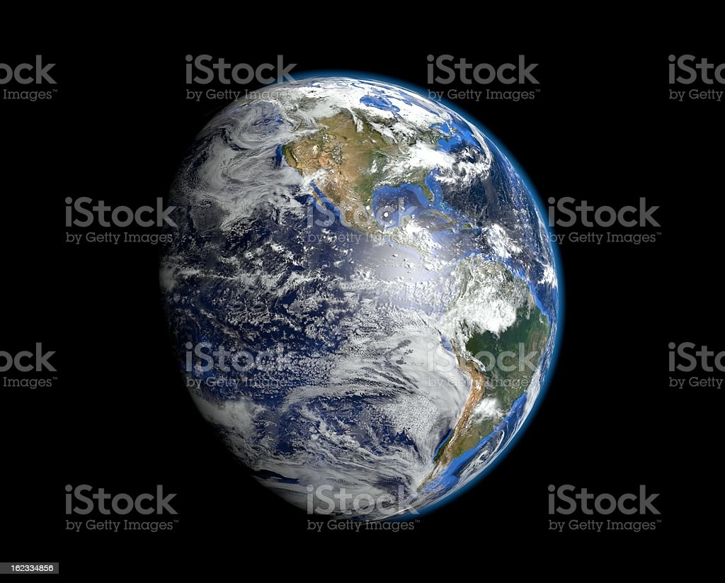 The most realistic earth - America royalty-free stock photo
