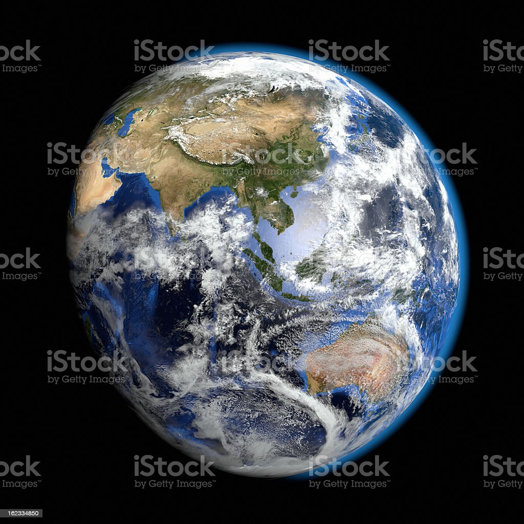 The most realistic earth - Asia Pacific royalty-free stock photo