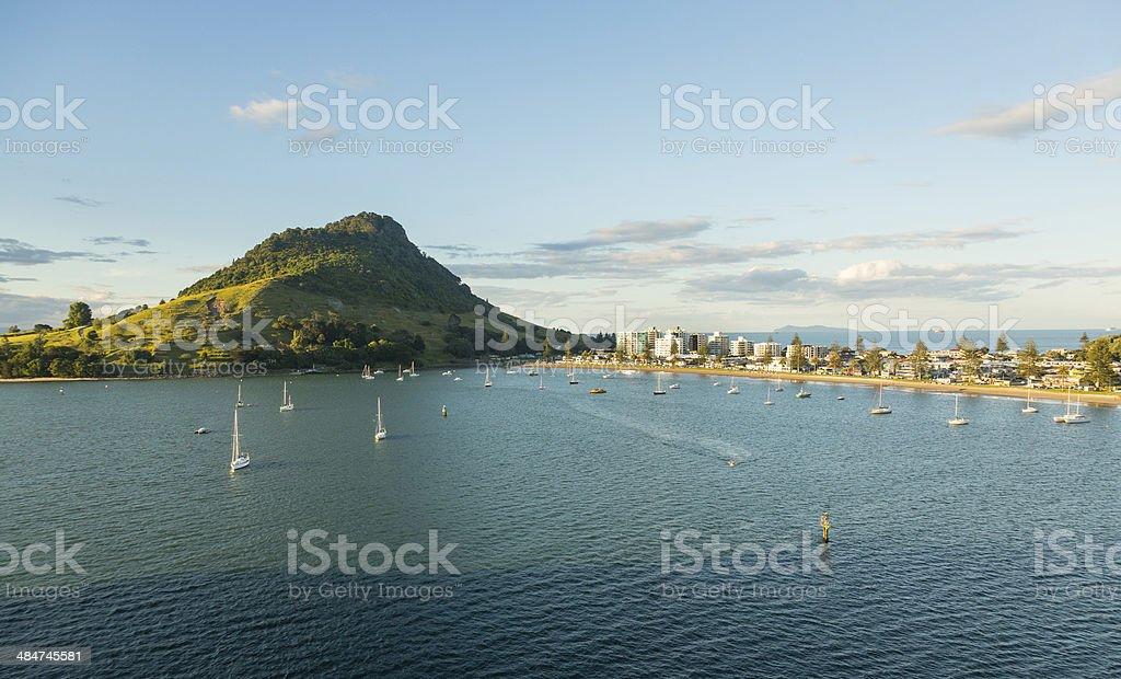 The Mount at Tauranga in NZ stock photo
