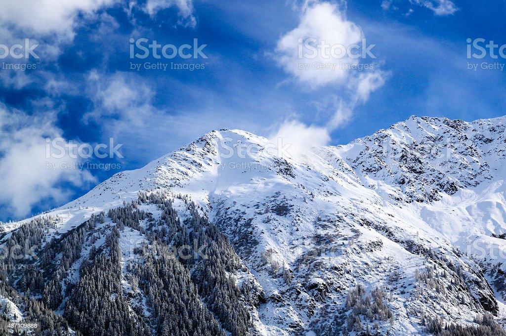 The Mount Blanc in Chamonix, France. stock photo