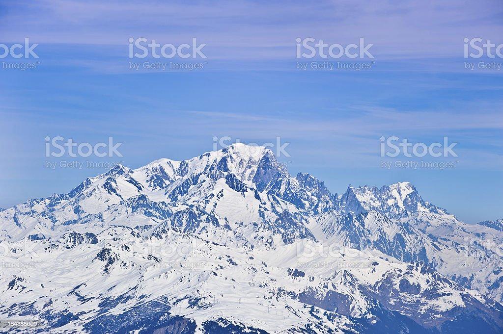 The Mount Blanc royalty-free stock photo