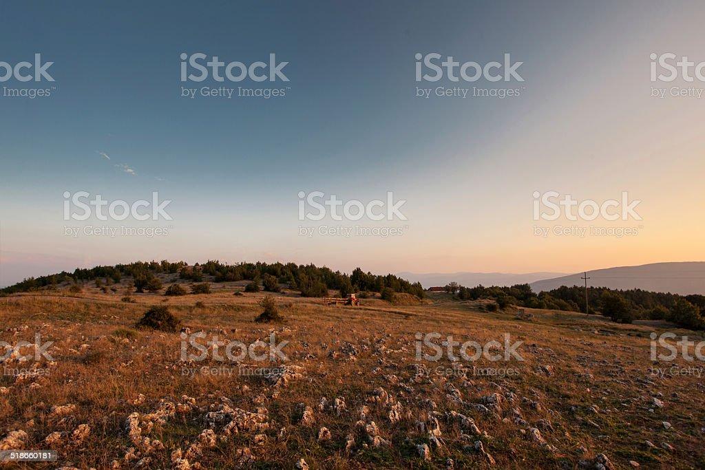 El paisaje de las montañas de otoño foto de stock libre de derechos