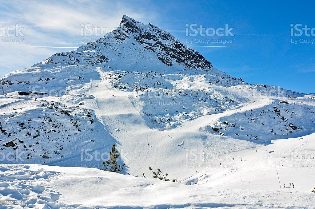 La montagne Ballun Spitze en Autriche photo libre de droits