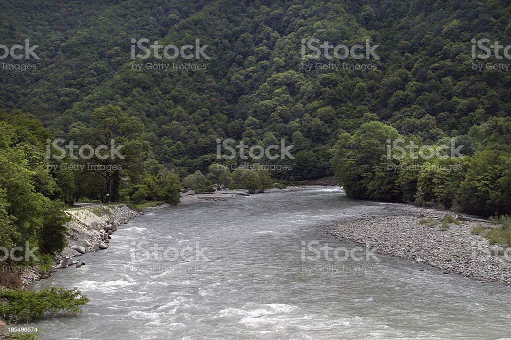 The mountain river royalty-free stock photo