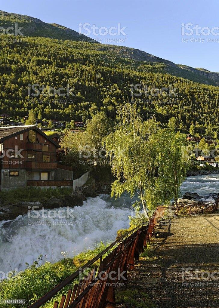 The mountain river. royalty-free stock photo