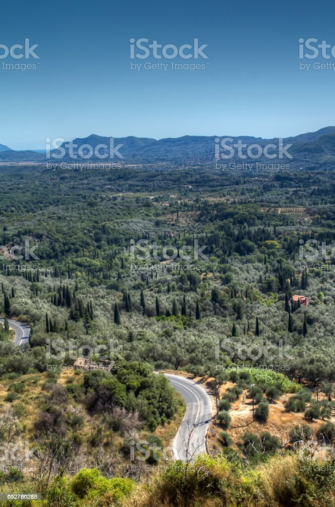 The mountain road, the beauty of nature. Mountain landscape. royalty-free stock photo