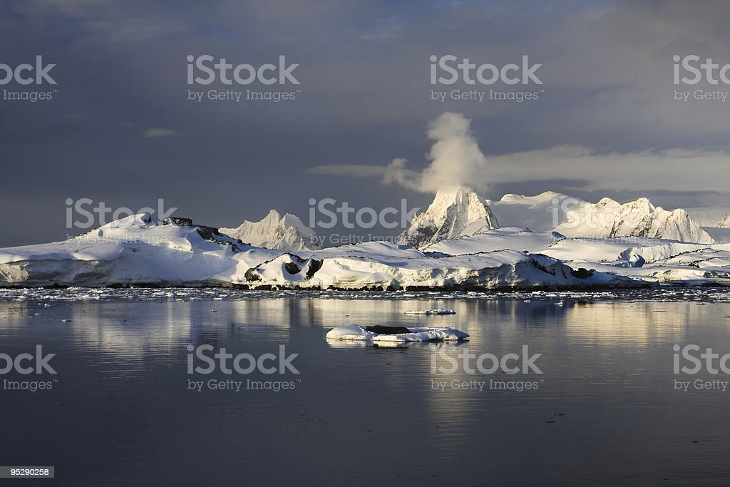 The mountains and their reflection royalty-free stock photo