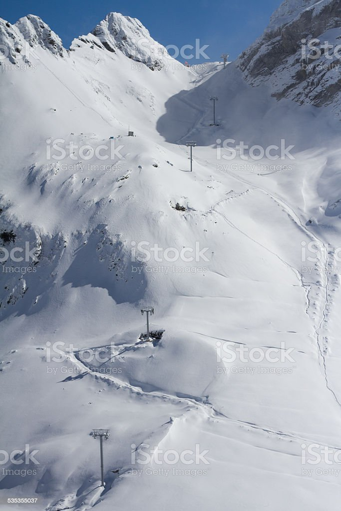 The mountains in Krasnaya Polyana (Russia) stock photo