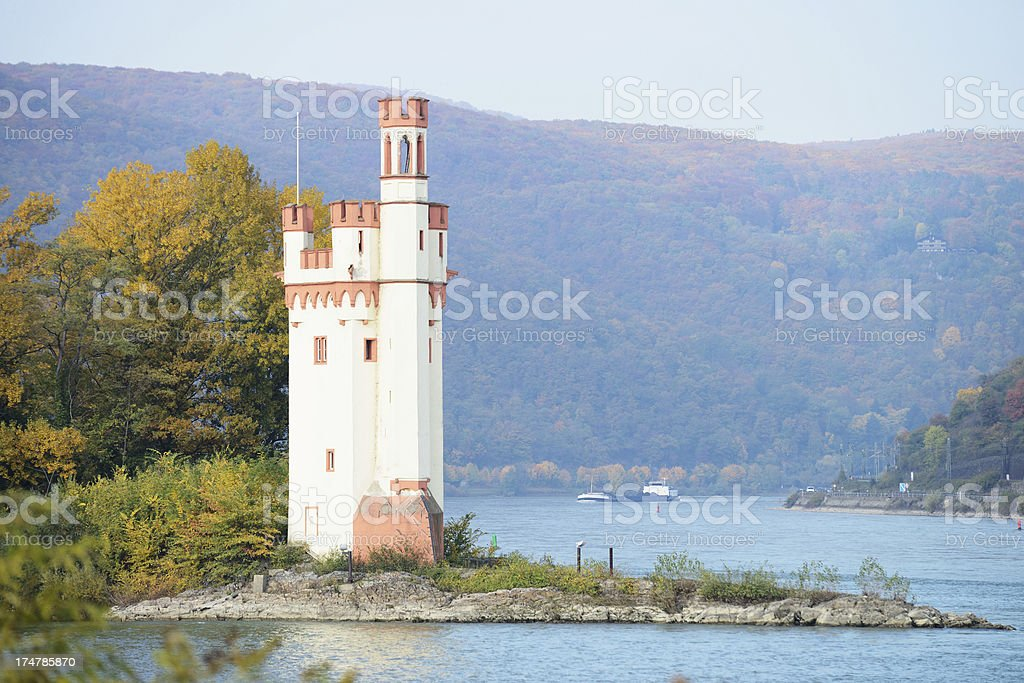 The Mouse Tower in Bingen, Germany stock photo