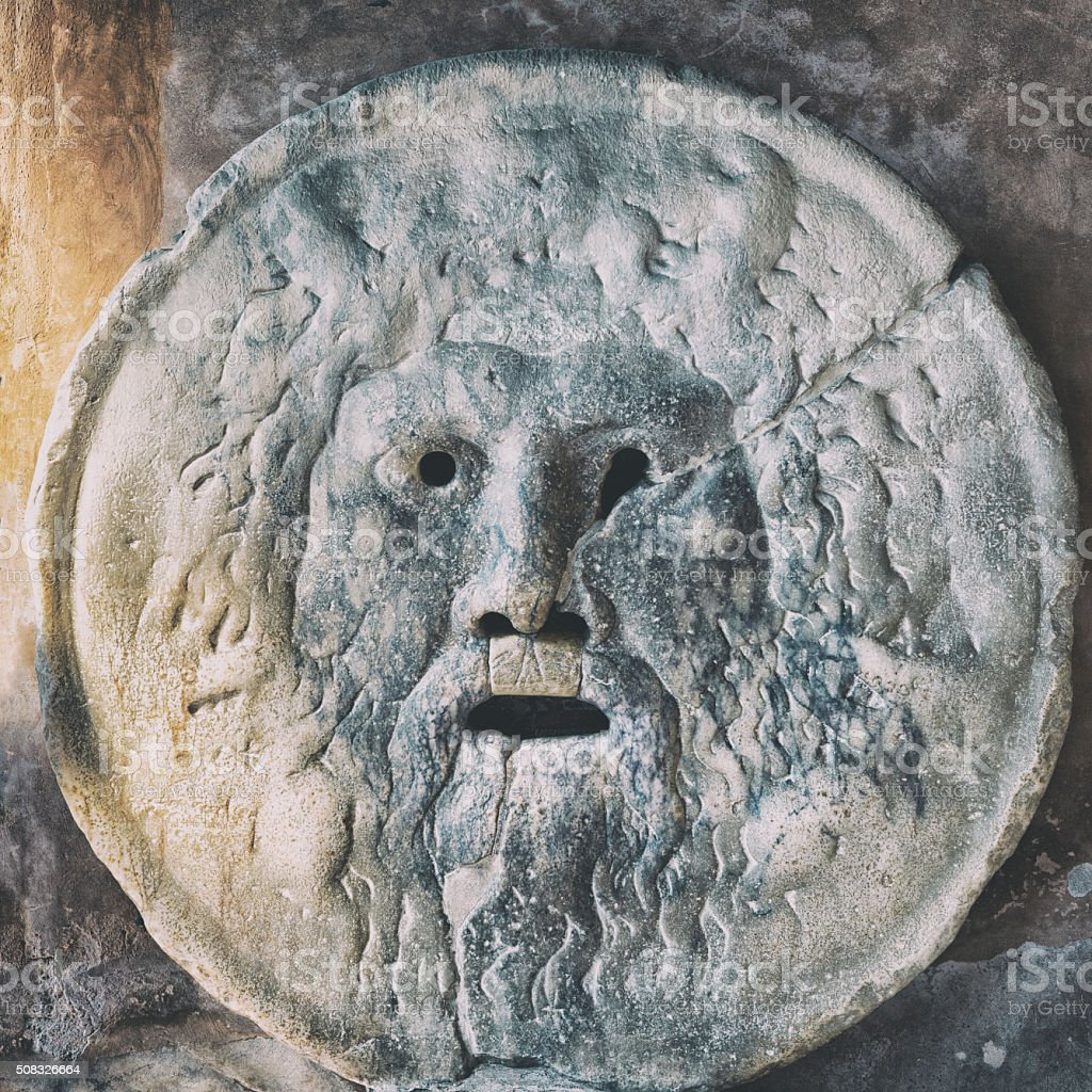 The Mouth of Truth - Rome, Italy stock photo