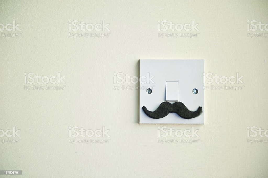 The Movember Light Switch stock photo
