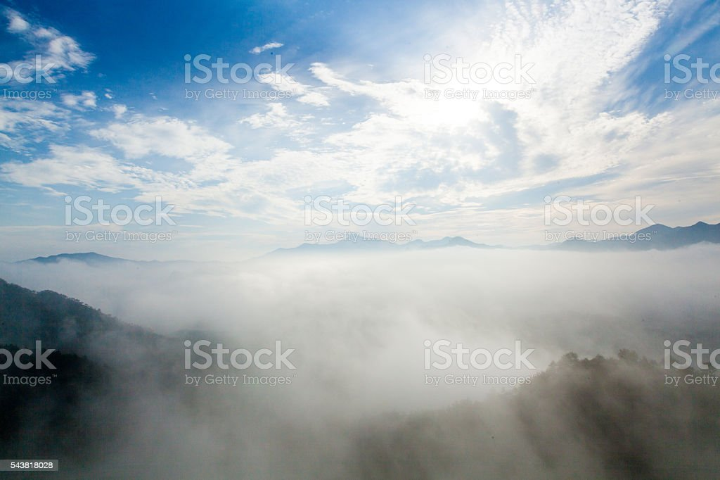 The Mt. Huangshan scenery stock photo