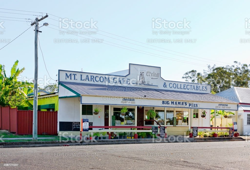 The Mt Larcom Cafe & Collectables Store stock photo