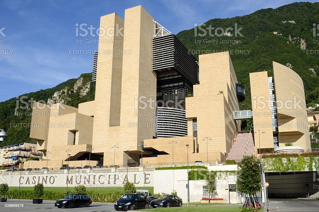 The municipal casino of Campione d'Italia stock photo