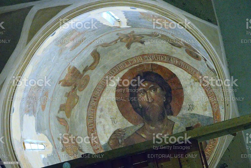The mural Christ Pantocrator stock photo