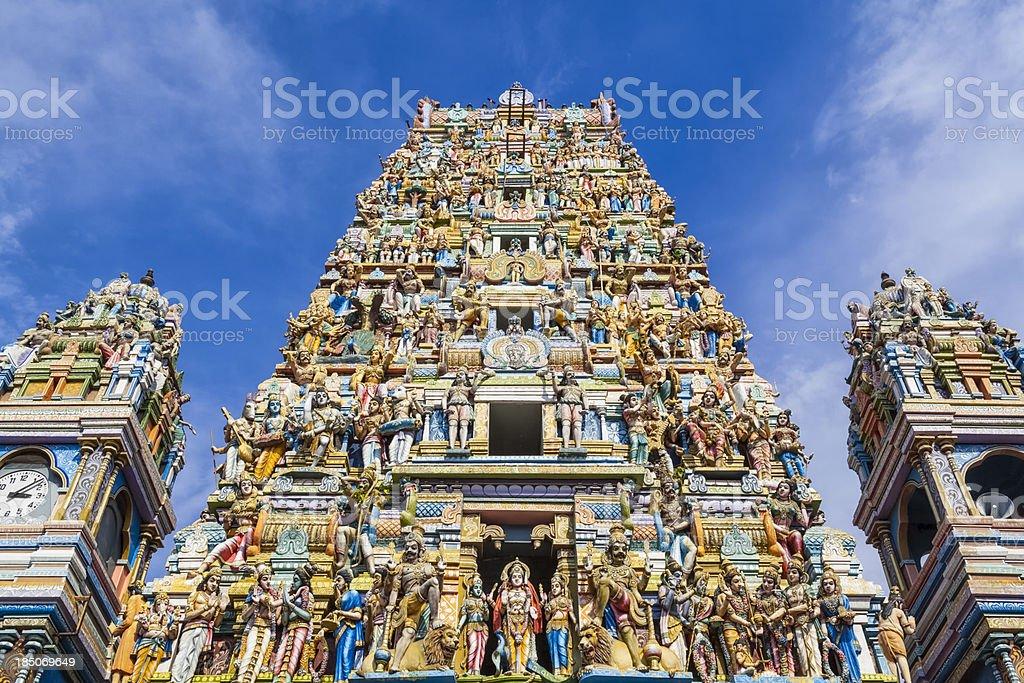 The Murugan Hindu Temple in Colombo stock photo