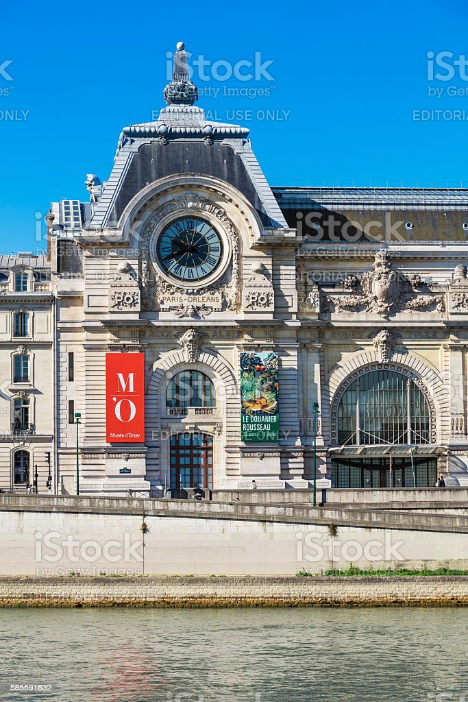The Musee d'Orsay, Paris, France royalty-free stock photo