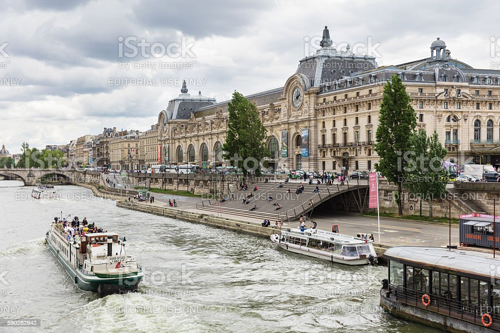 The Musee d'Orsay, Paris, France stock photo