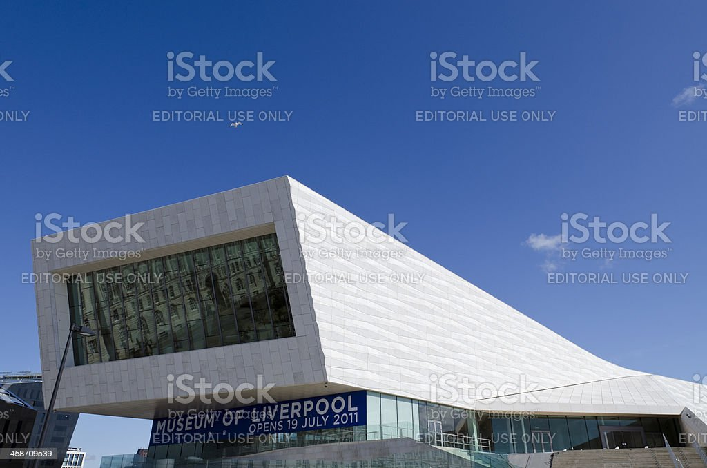 The Museum of Liverpool, modern architecture. stock photo