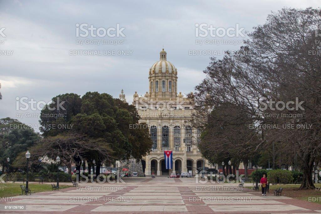 The Museum of the Revolution at Havana, Cuba stock photo