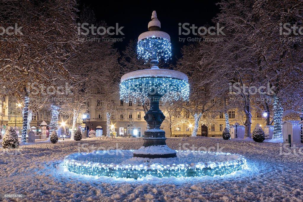 The Mushroom fountain stock photo