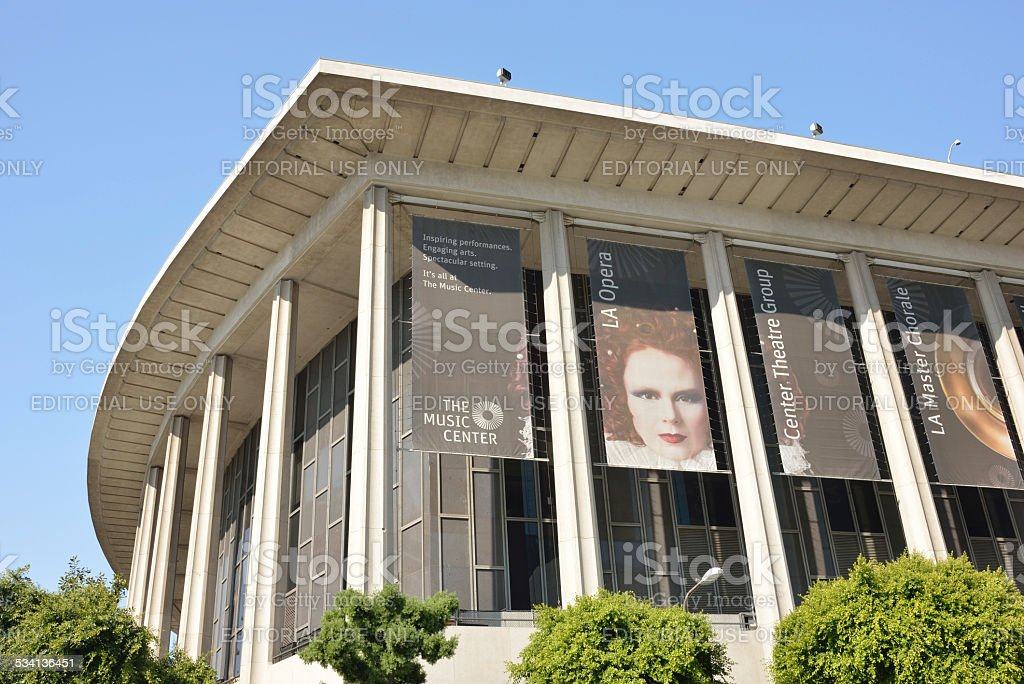 The Music Center Building in Los Angeles stock photo