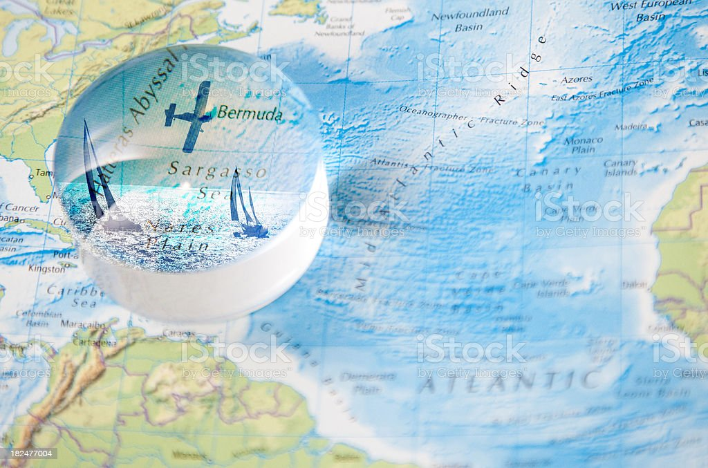The mysteries of the Bermuda Triangle royalty-free stock photo