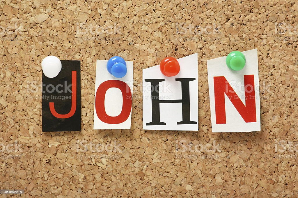 The name John stock photo