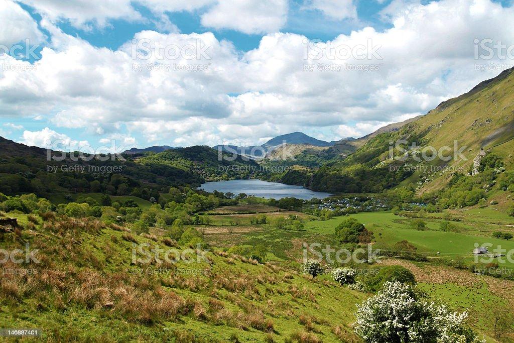 The Nant Gwynant Valley royalty-free stock photo