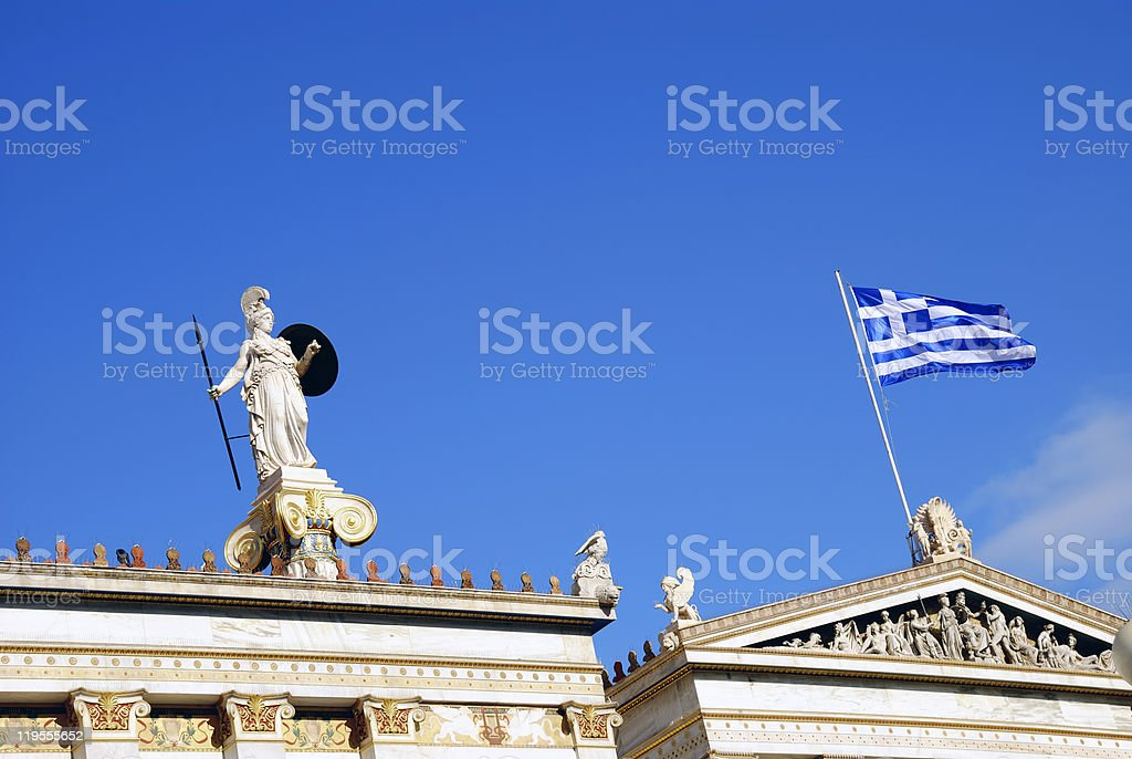 The National Academy of Athens - Detail (Greece) royalty-free stock photo