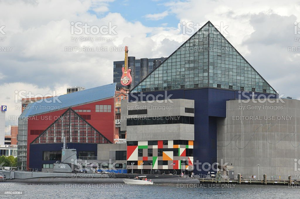 The National Aquarium at the Inner Harbor in Baltimore, Maryland stock photo