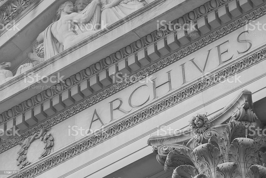 The National Archive, Washington DC royalty-free stock photo