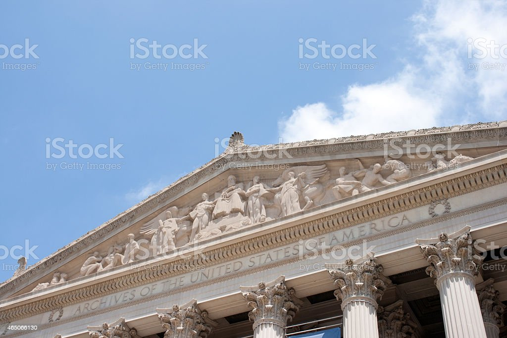 The National Archive, Washington DC stock photo