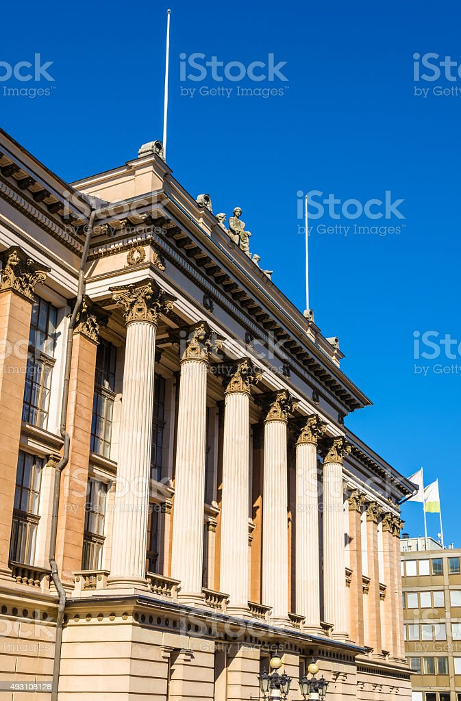 The National Archives of Finland in Helsinki stock photo
