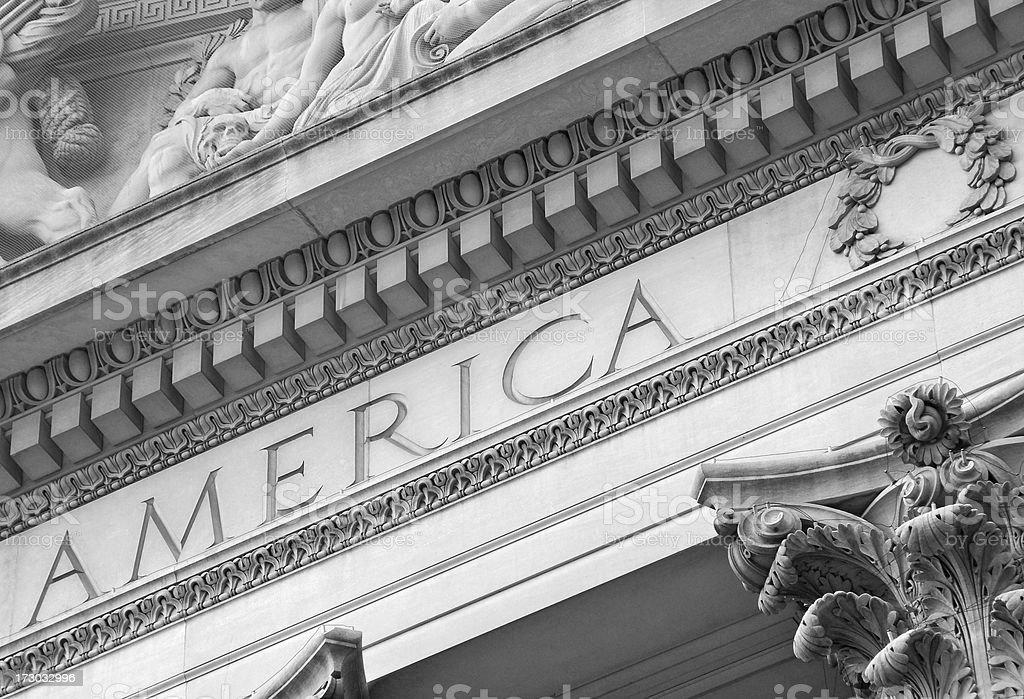 The National Archives, Washington DC stock photo