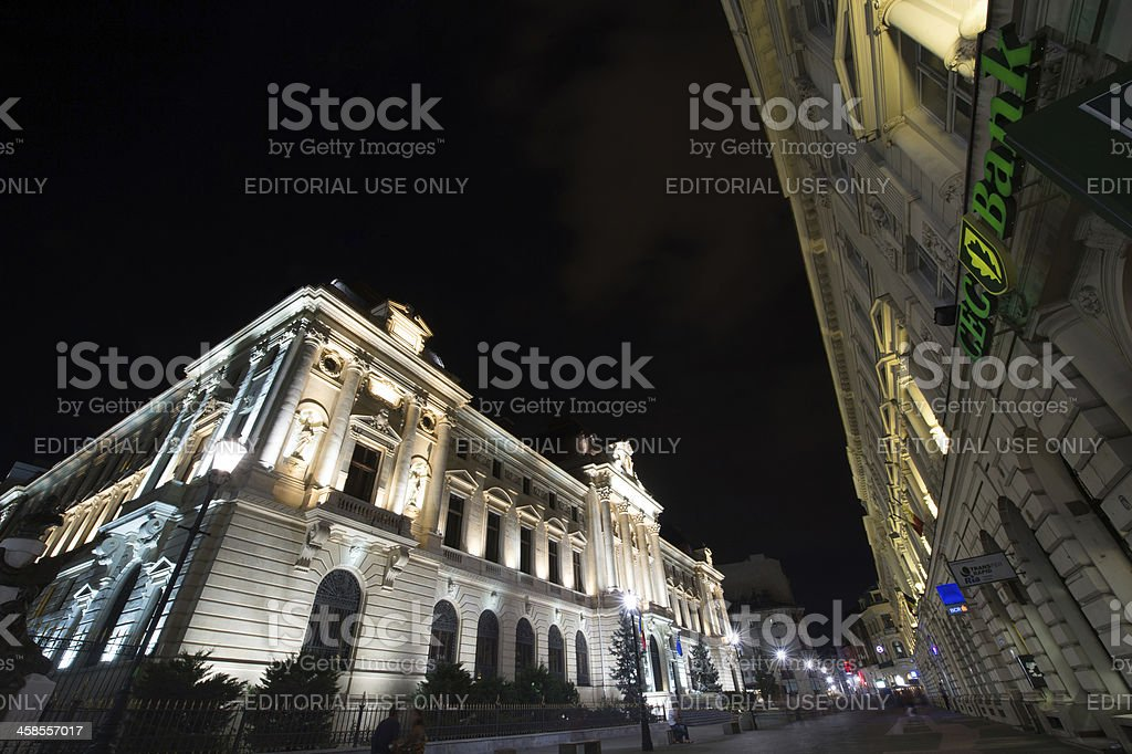 The National Bank of Romania and CEC Agency royalty-free stock photo