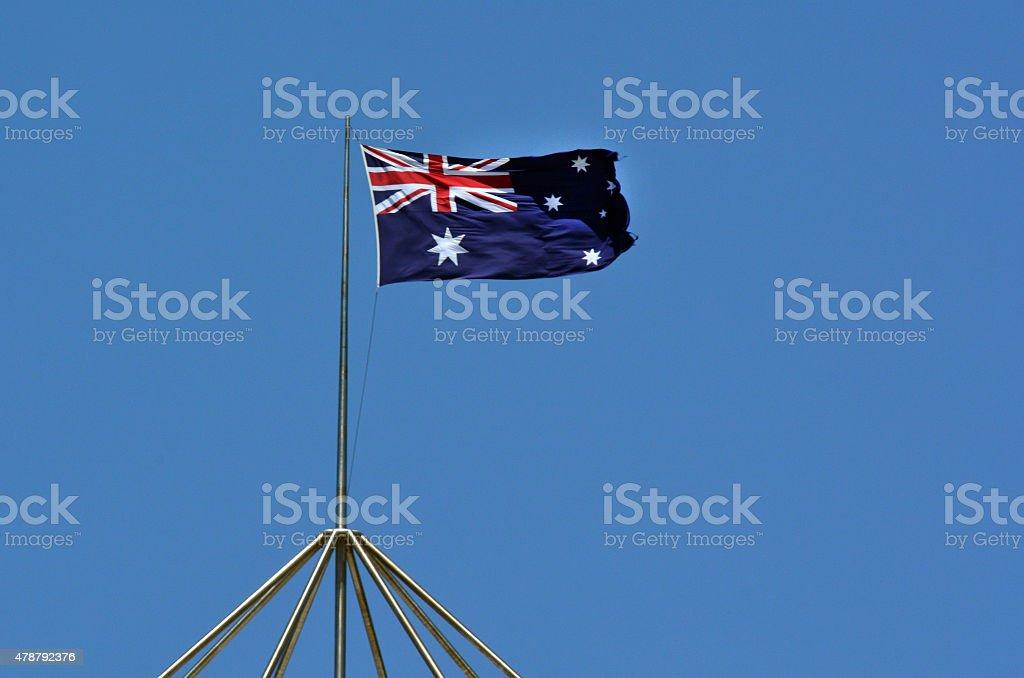 The national flag of Australia stock photo