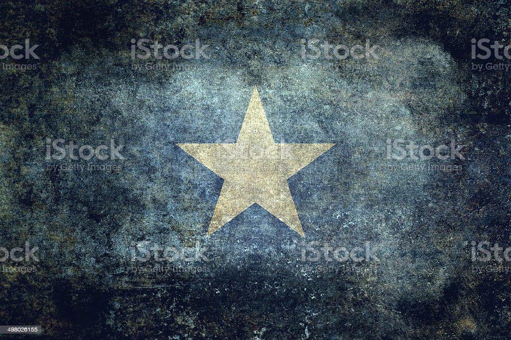 The national flag of Somalia, Vintage version stock photo