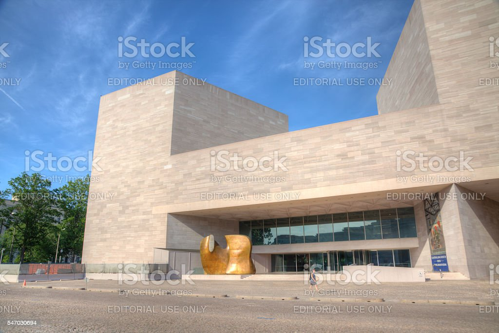 The National Gallery of Art's East Building stock photo
