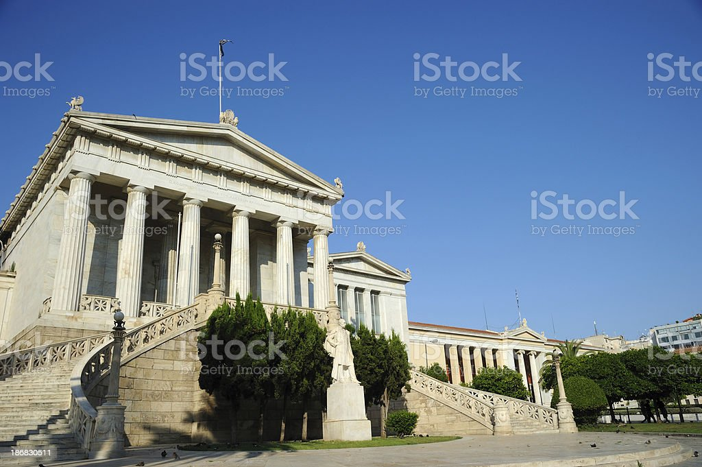 The National Library of Greece royalty-free stock photo