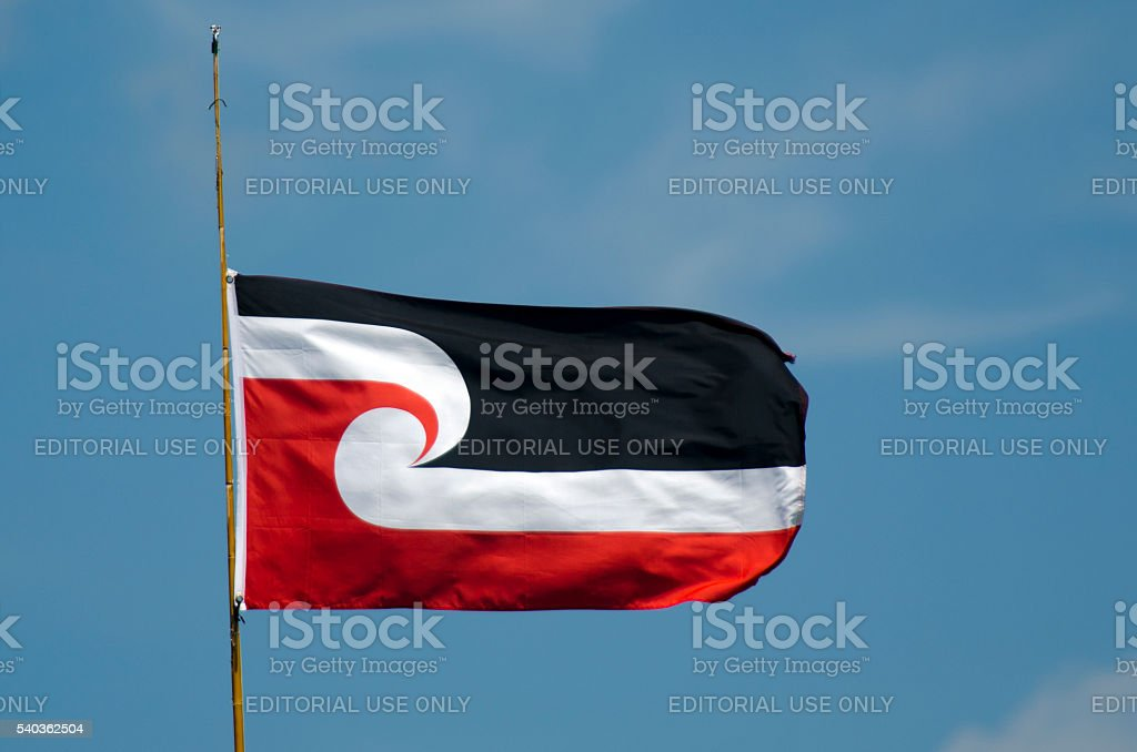 The national Maori flag stock photo