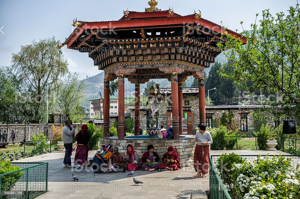 The National Memorial Chorten, Thimphu, Bhutan stock photo