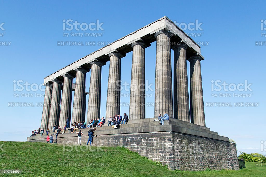 The National Monument of Scotland stock photo