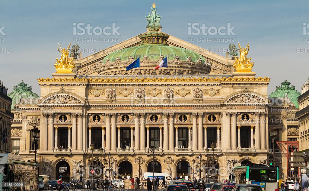 The National Opera house Garnier, Paris, France. stock photo