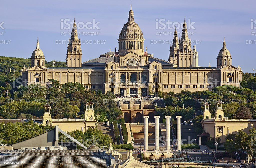 The National Palace of Montjuic, Barcelona, Spain stock photo